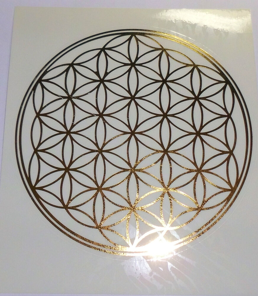 blume des lebens aufkleber sticker lebensblume flower of life hl geometrie ebay. Black Bedroom Furniture Sets. Home Design Ideas