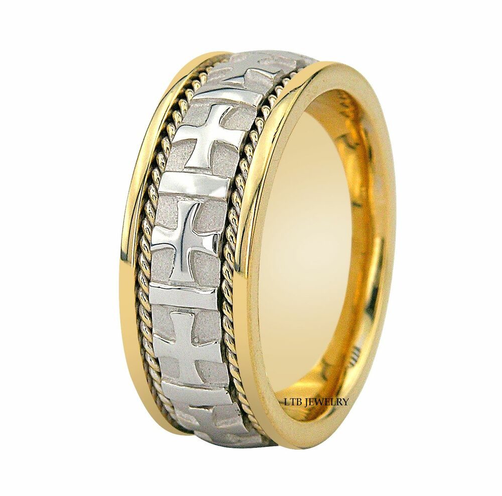 950 platinum 18k gold mens wedding band ring 8mm ebay
