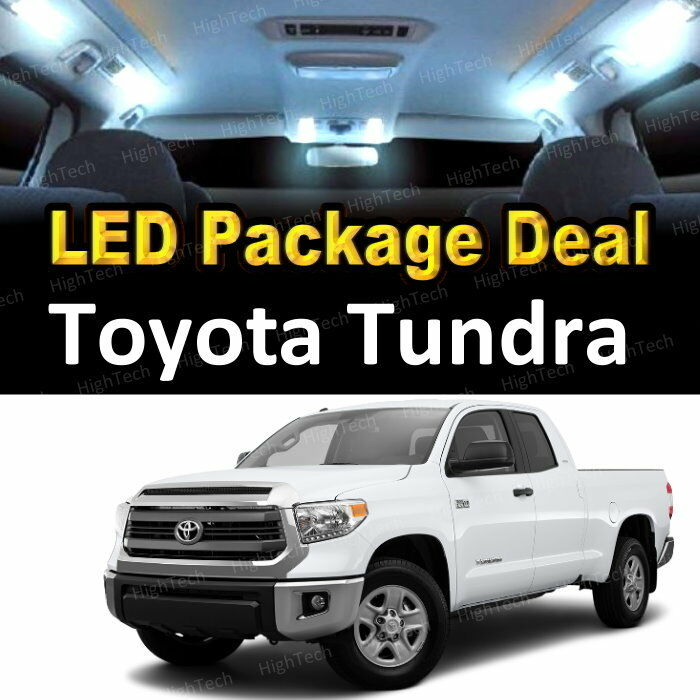 10 White Led Lights Interior Package Deal For 2007 2014 Toyota Tundra Ebay
