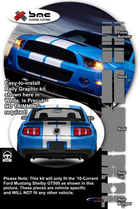 2010 2011 2012 Ford Mustang Shelby Gt500 Oe Style Rally
