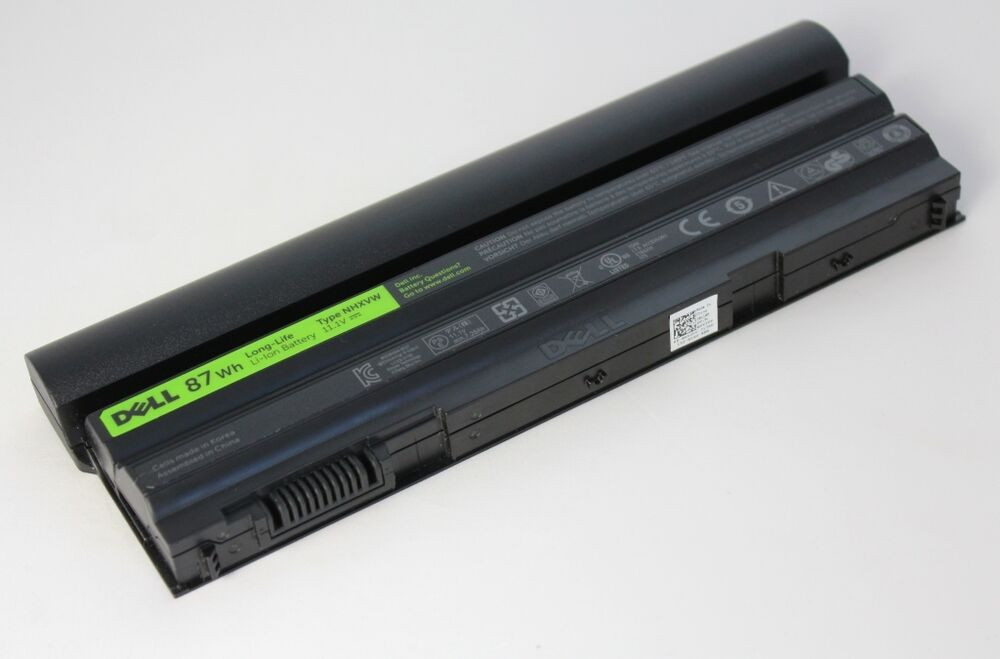 dell latitude e5420 9 cell 87wh battery type nhxvw 3 yr life tech genuine part ebay. Black Bedroom Furniture Sets. Home Design Ideas