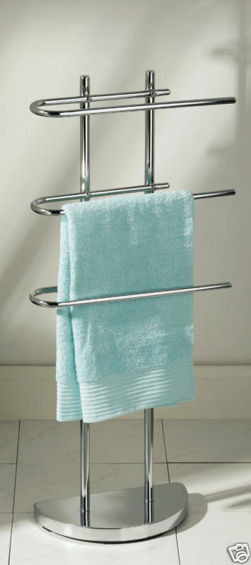 Chrome 3arm Hanging Towel Bar Holder Free Floor Stand Bath Bathroom Rack Rail 70 Ebay