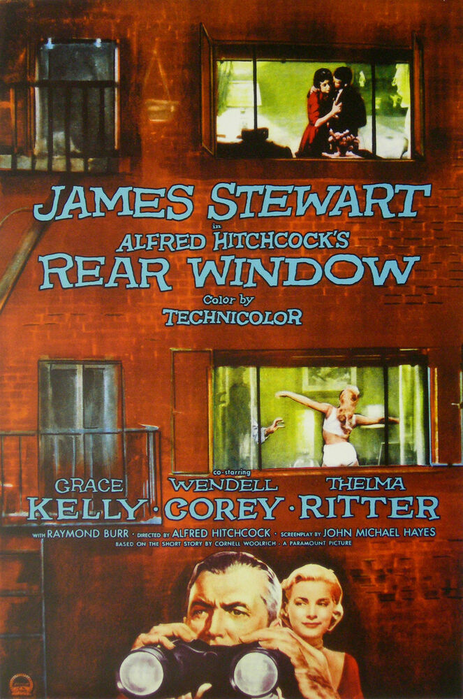 Rear window movie poster 1954 alfred hitchcock psycho ebay for 1954 rear window