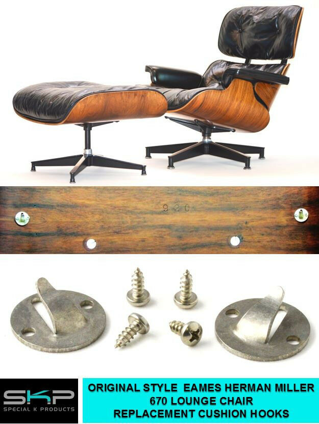 Cushion Hooks For Eames Miller 670 671 Lounge Chair