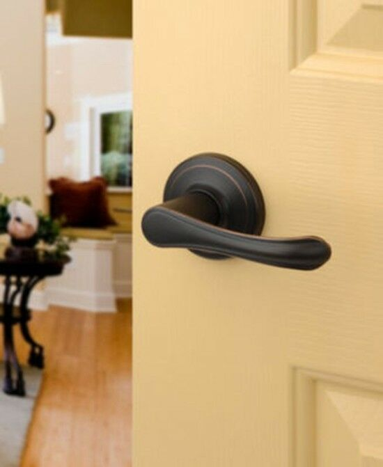 Aged Oil Rubbed Bronze Passage Door Hardware Knob Lever