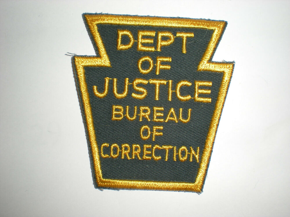 pennsylvania department of justice bureau of corrections patch ebay. Black Bedroom Furniture Sets. Home Design Ideas