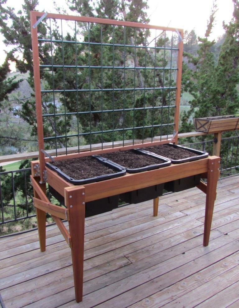 "Waist-High Raised-Bed Garden Planter, 67"" X 34"