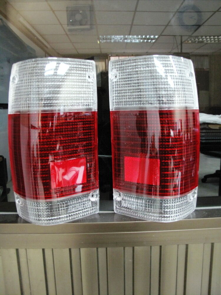 2 x tail light clear red lenses for mazda b2000 b2200. Black Bedroom Furniture Sets. Home Design Ideas