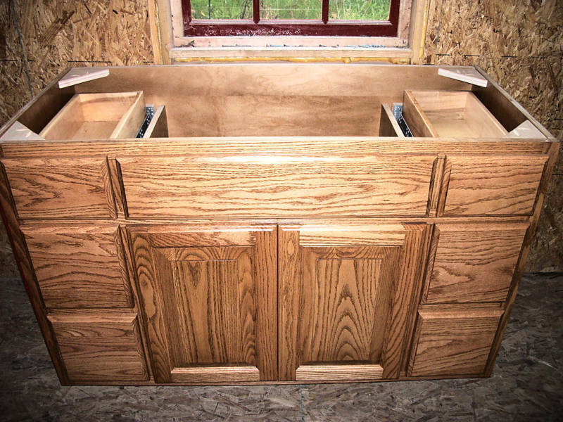 solid wood amish made bathroom vanity 48 oak custom ebay
