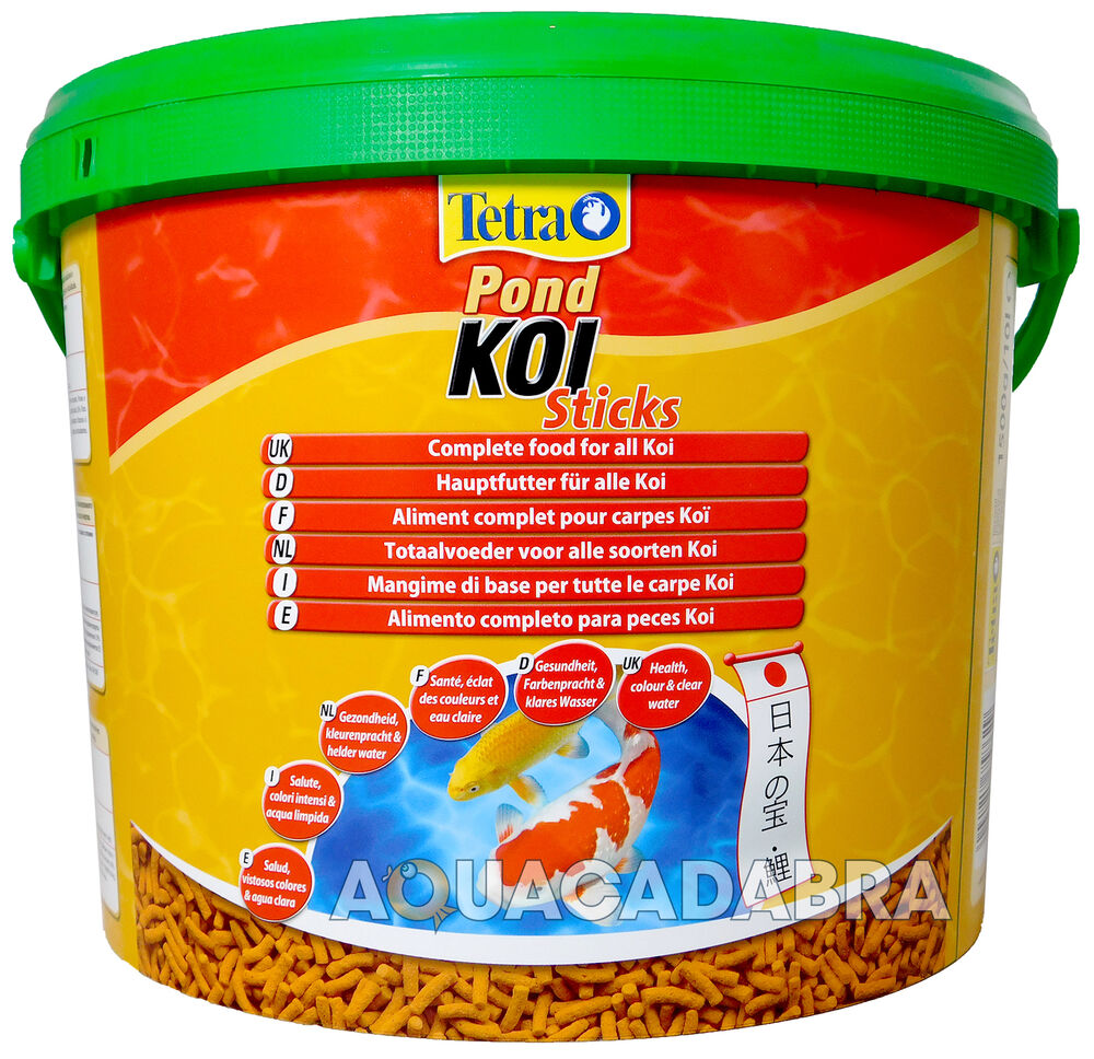Tetra pond koi fish food sticks 1500g 10l bucket floating for Pond fish food