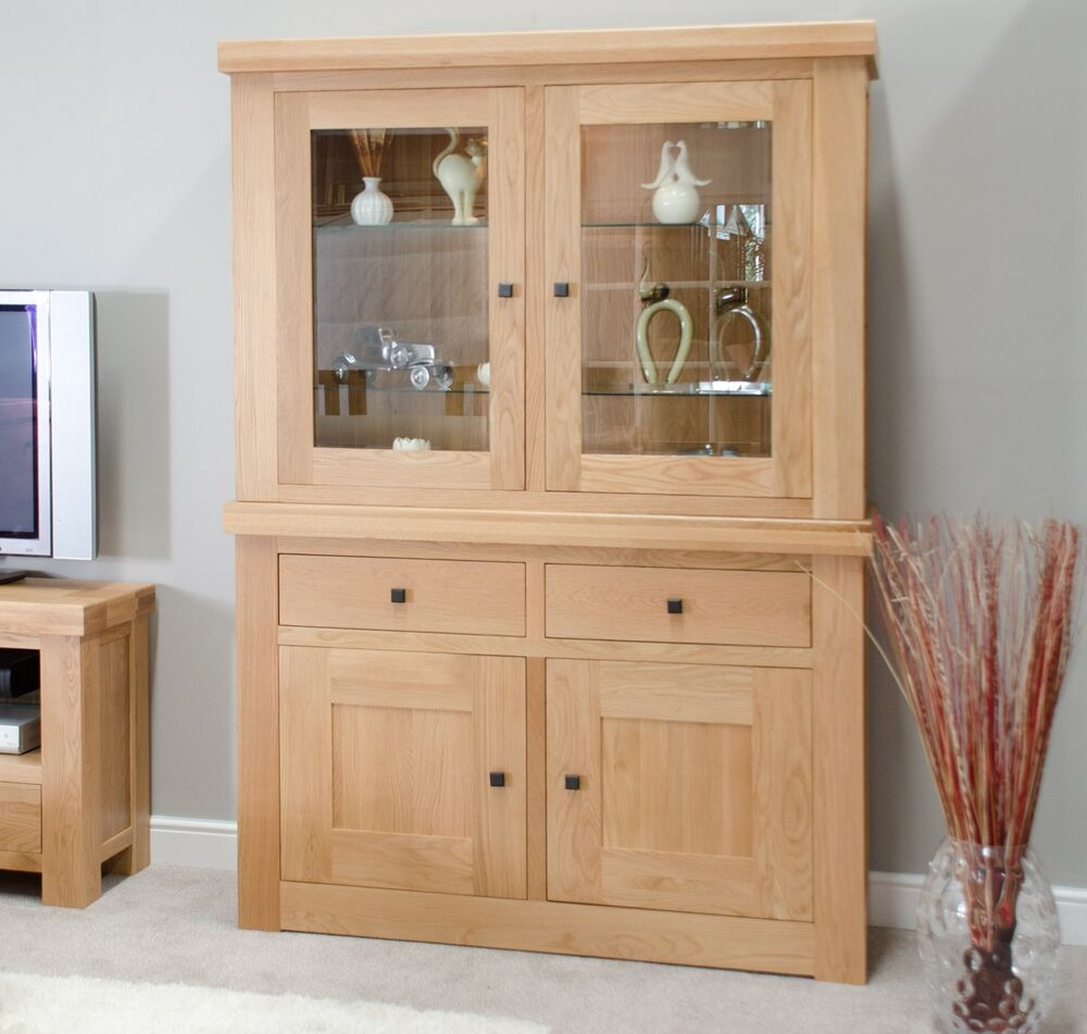 phoenix solid oak dining room furniture dresser display cabinet ebay