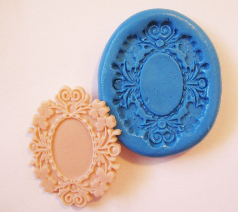 Cabochon Setting Cameo Silicone Push Mold Polymer Clay
