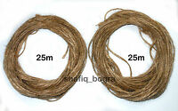 50m mts Natural Rustic Hairy JUTE Twine Hessian Crafts Shabby Chic Card Hanging