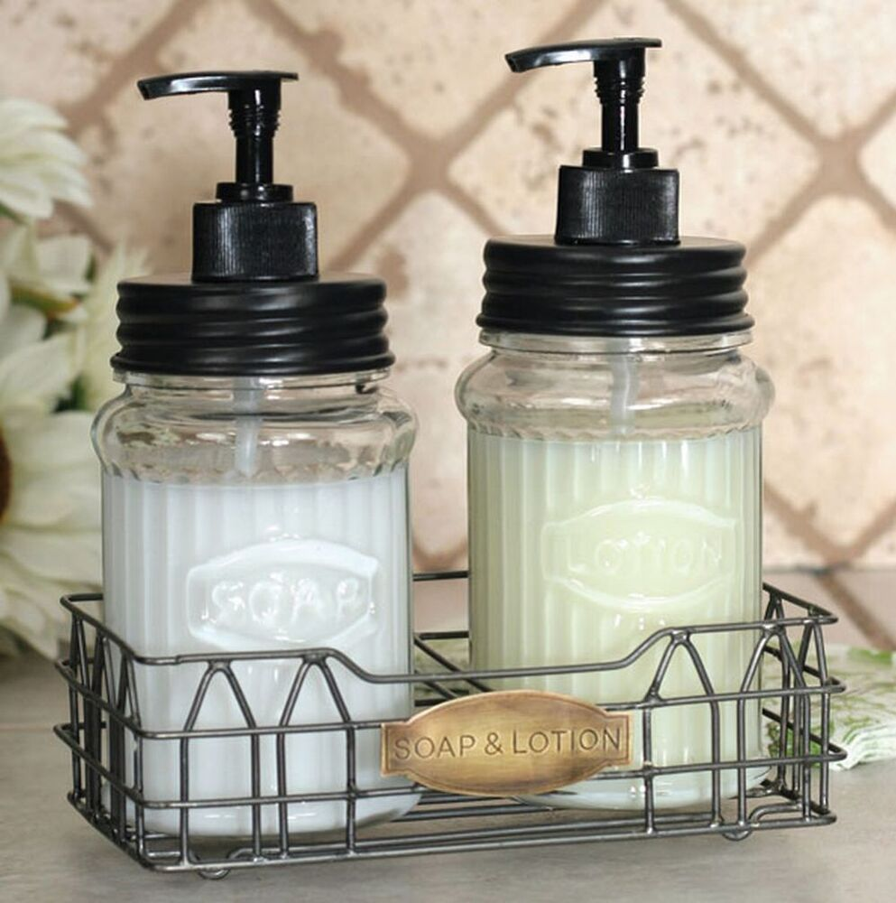 Hoosier Kitchen Cabinet Soap Lotion Dispenser Bath Caddy