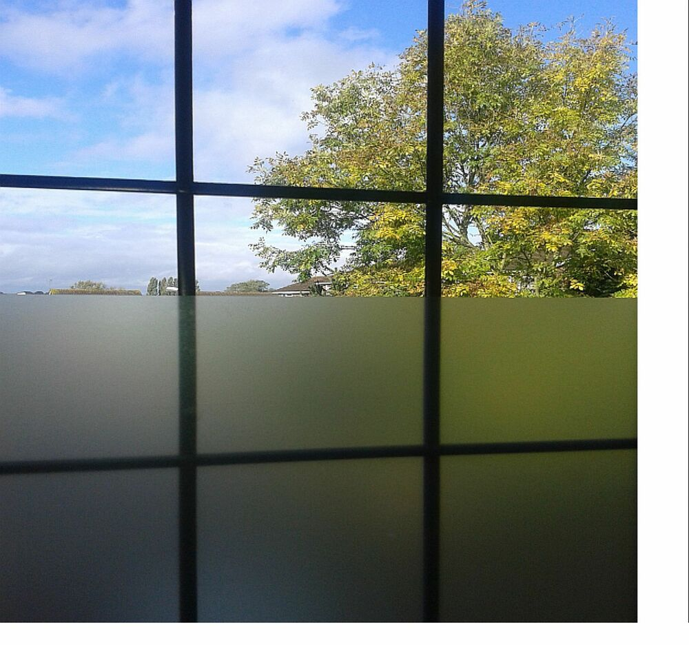 1m roll etch glass film window frost privacy frosting self for Window frosting