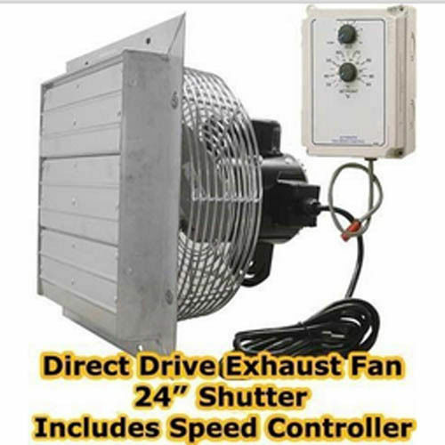 Direct Drive Exhaust Blower : Exhaust fan direct drive quot shutter variable speed
