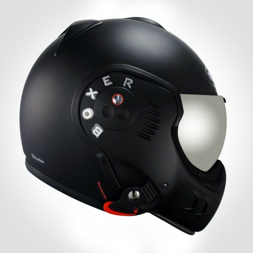roof boxer v8 flip helmet black shadow new all sizes. Black Bedroom Furniture Sets. Home Design Ideas