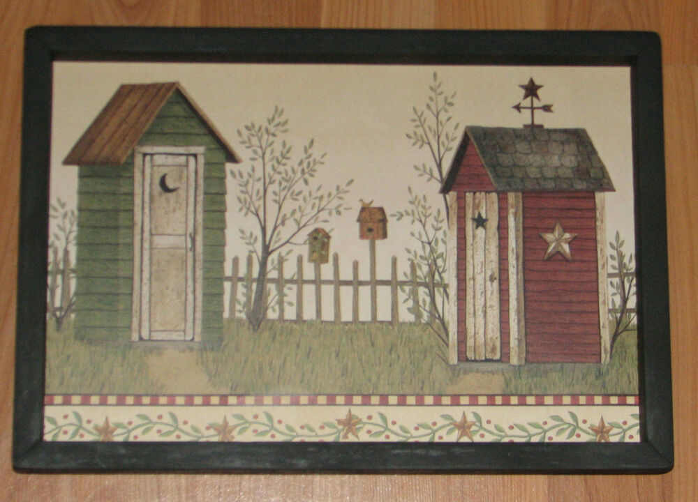 Primitive country outhouse barn star weather vane for Barn star decorations home