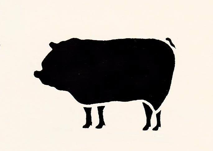 Pig Stencil Hog Swine Farm Animal Country For Projects