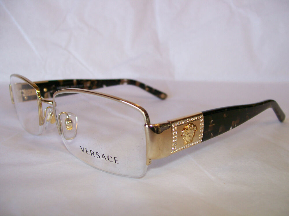 Versace Red Frame Glasses : VERSACE GLASSES FRAME VE1175B 1002 GOLD W/ STONES 51-17 ...