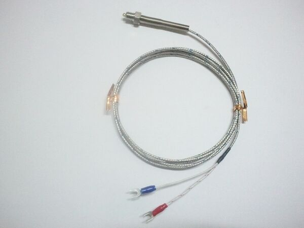 Wiring 3 Wire Thermocouple : K type thermocouple inch thread lead wire long