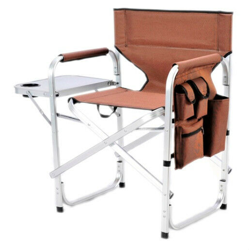 Camping Folding Director Chair W Table 1204Brown EBay