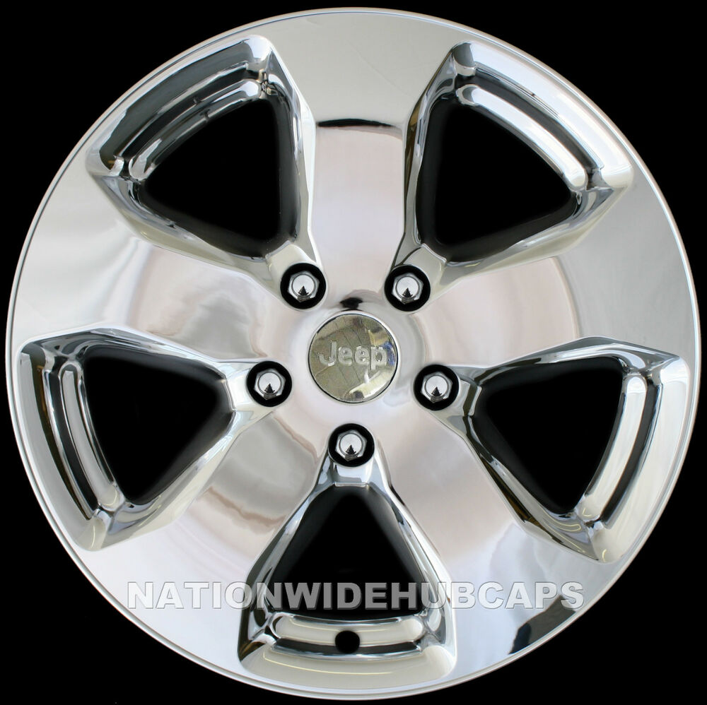 4 jeep grand cherokee 18 chrome wheel skins cap covers. Black Bedroom Furniture Sets. Home Design Ideas
