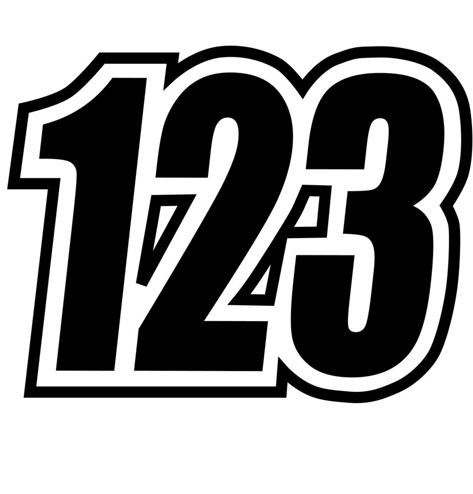 motorcross race numbers custom race numbers x4 in set ebay. Black Bedroom Furniture Sets. Home Design Ideas
