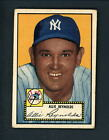 1952 Topps # 67 BLACK BACK Allie Reynolds EX cond Yankees