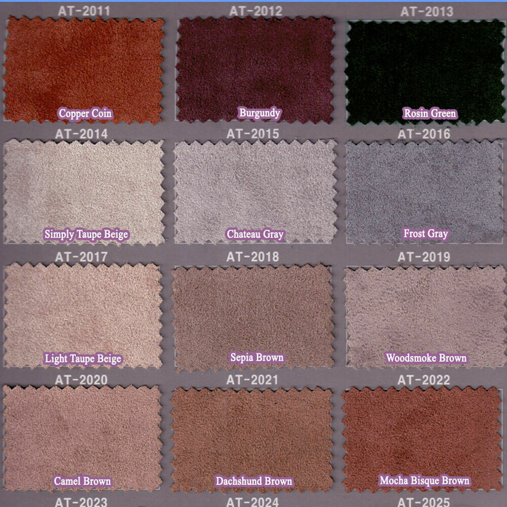 Faux Suede Leather Spandex Stretch Upholstery Fabric Suedette Designer 28 Colors Ebay