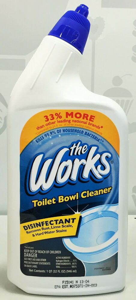 The Works Toilet Bowl Cleaner Disinfectant 32 Oz