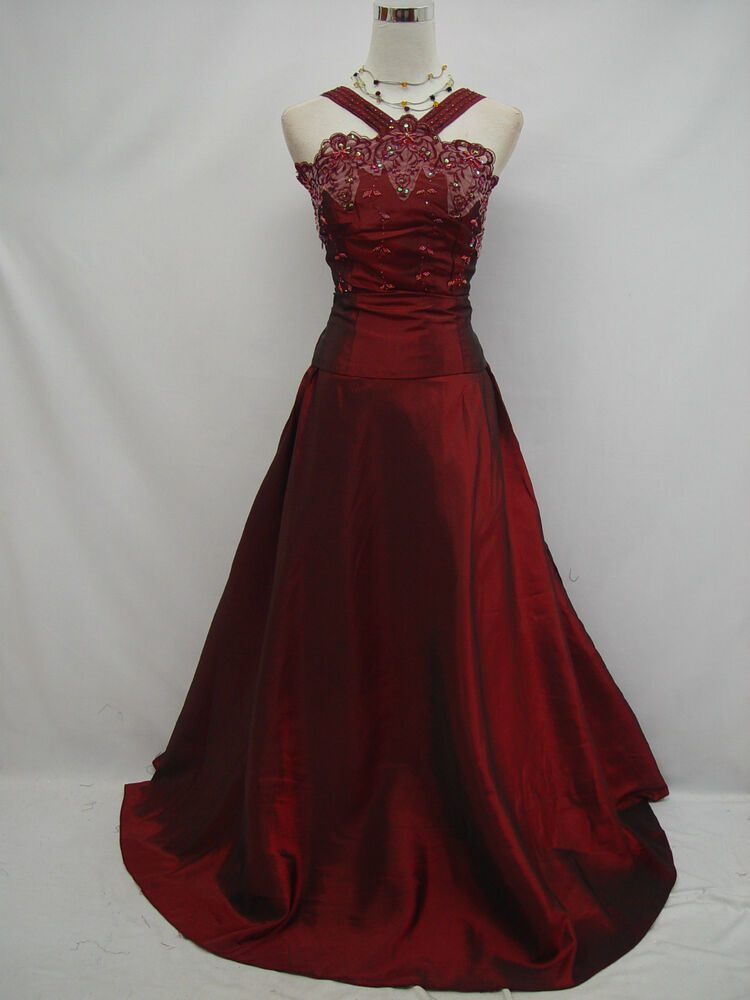 cherlone plus size satin burgundy prom ball gown wedding