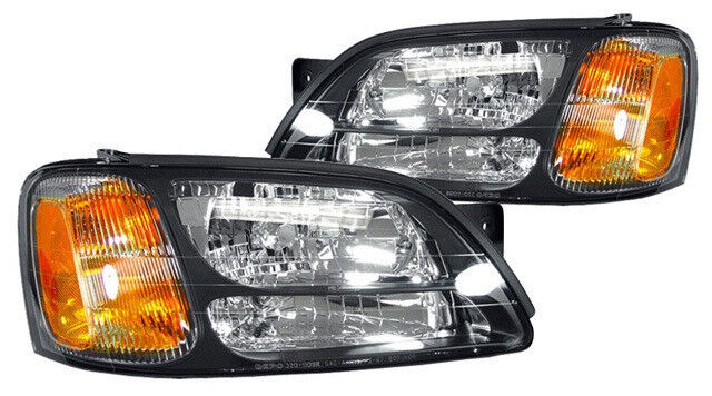 New Replacement Headlight Assembly Pair    For Subaru Outback Baja  U0026 Legacy