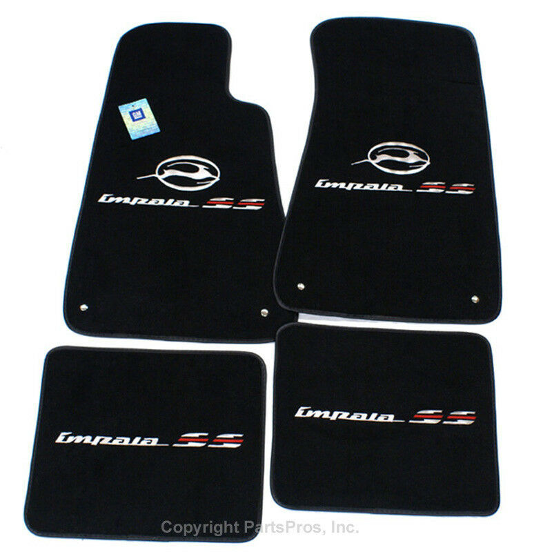 New Black 4 Piece Premium Logo Floor Mat Set Fits 1994