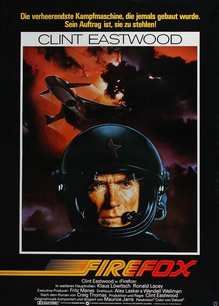 FIREFOX Movie Poster Clint Eastwood RARE | eBay