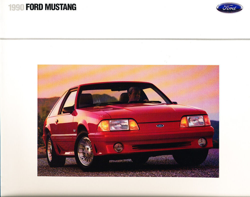 1990 ford mustang original sales brochure catalog gt for Ebay motors mustang gt