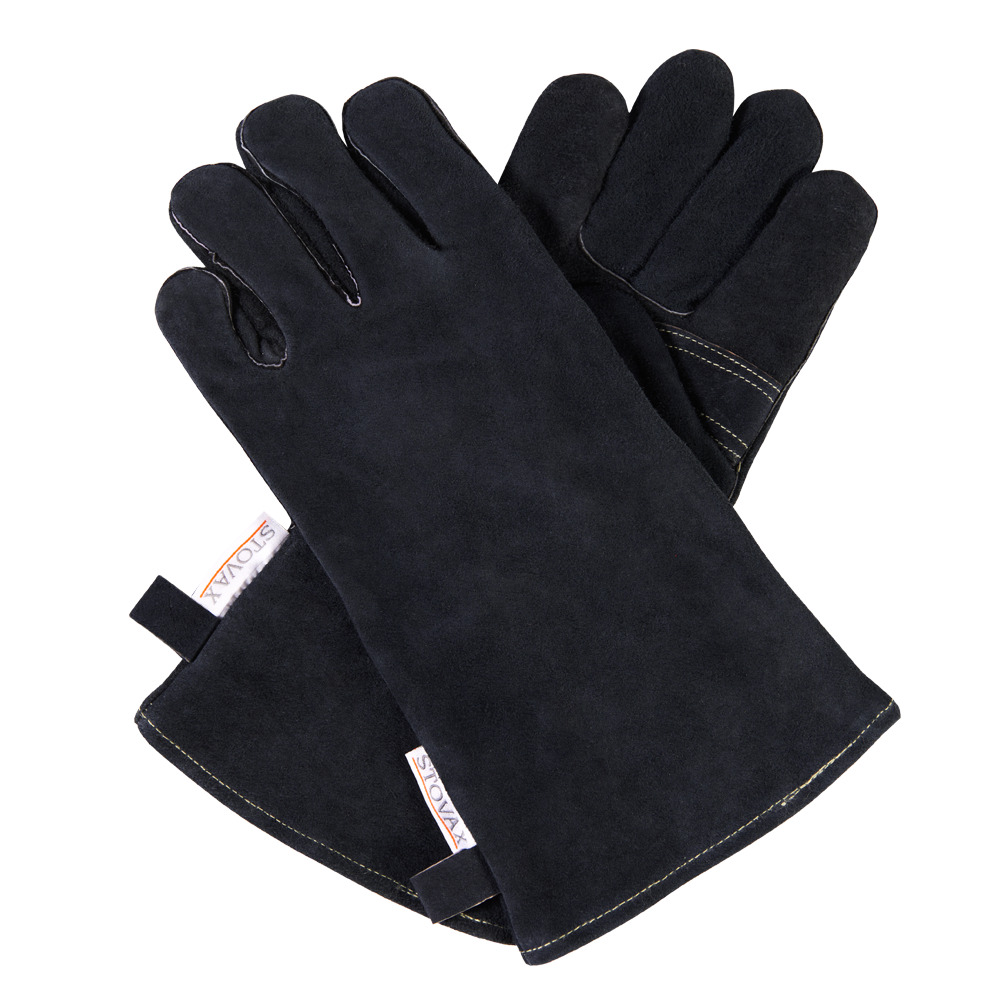 Stovax Leather Stove Gloves Heat Resistant For Stoves