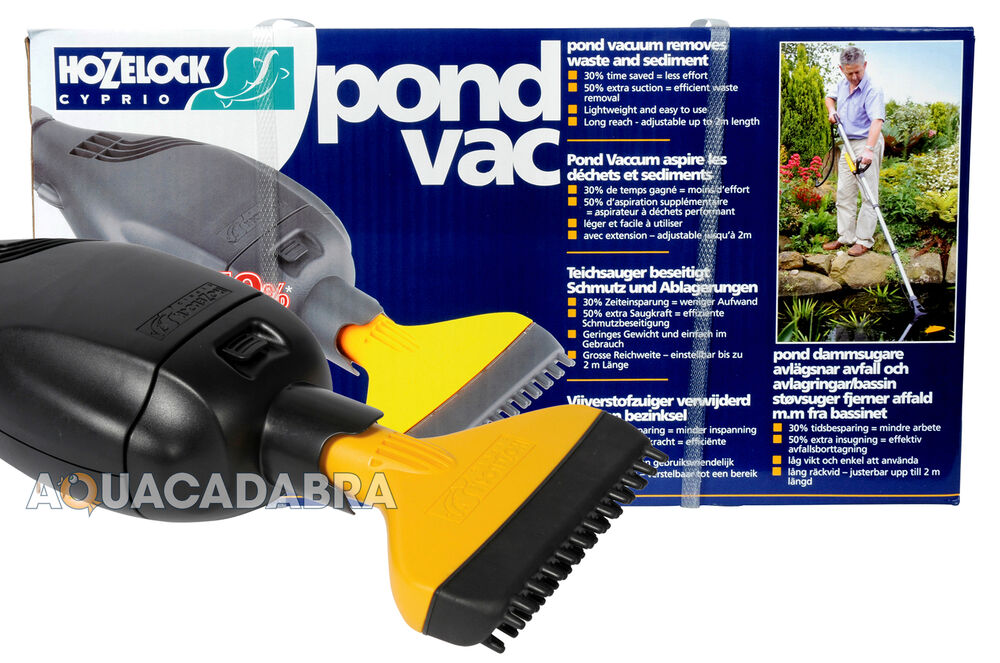 Hozelock pond vacuum garden hoover fish vac koi goldfish for Garden pond vacuum review