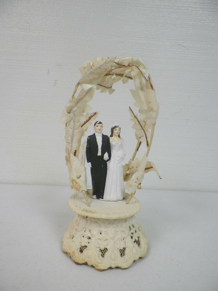 vintage wedding cake toppers ebay vintage 1949 wedding cake topper amp groom ebay 21616