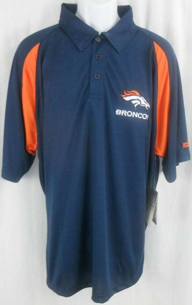 Denver broncos nfl dri fit polo golf shirt stay cool dry for Cool dri polo shirts