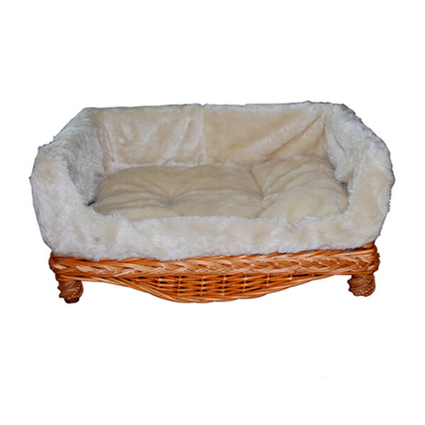 luxury wicker couch for dogs cats dog beds dog sofa best offer or refund diff ebay. Black Bedroom Furniture Sets. Home Design Ideas