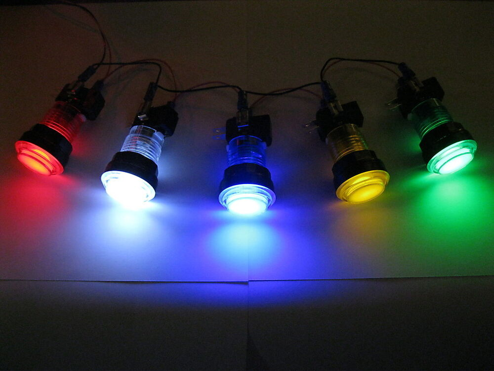 New Led Lit Arcade Push Button Mame Multicade Choice Of 5