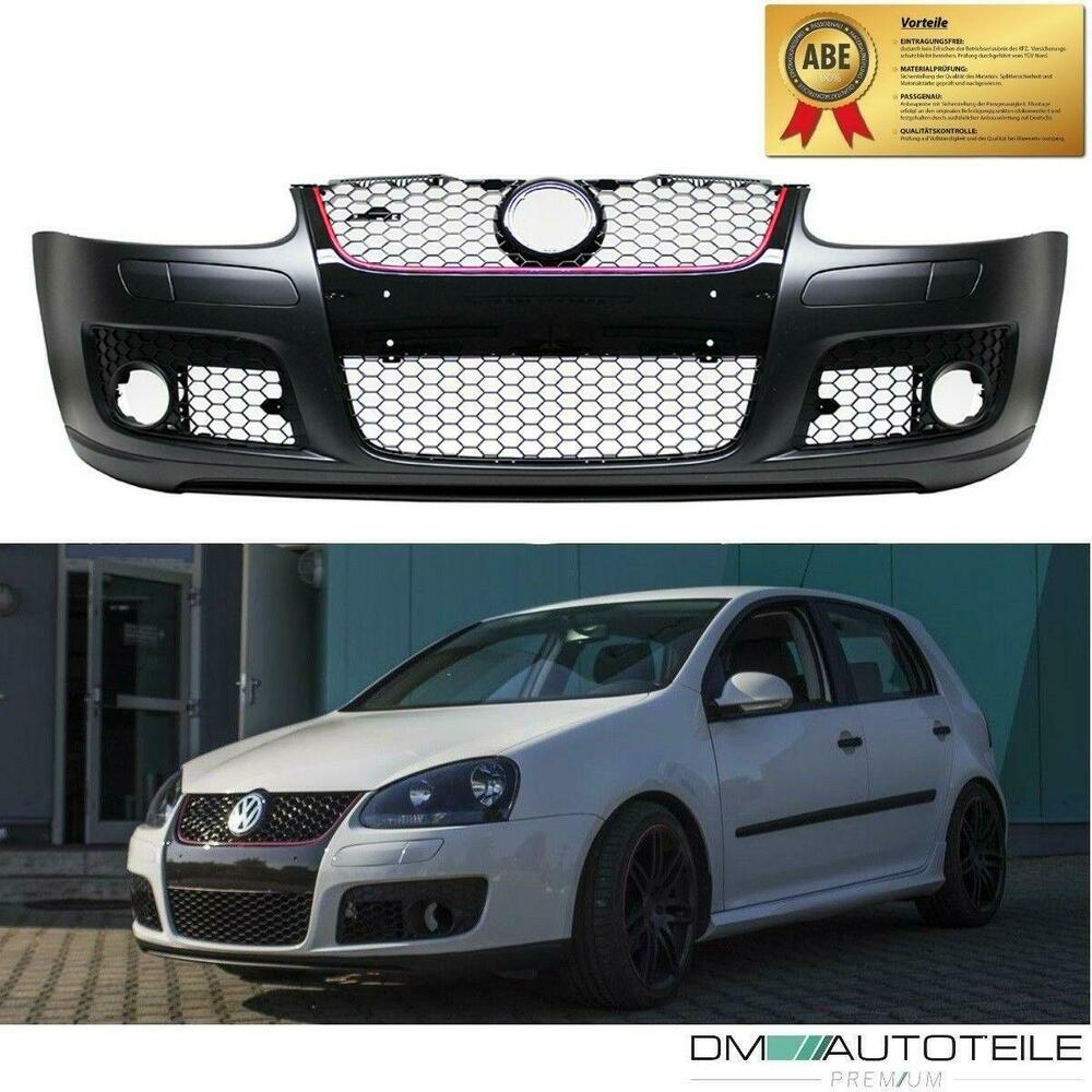 Vw Golf 5 V Gti Look Front Bumper Mk5 Gti Grill With Red