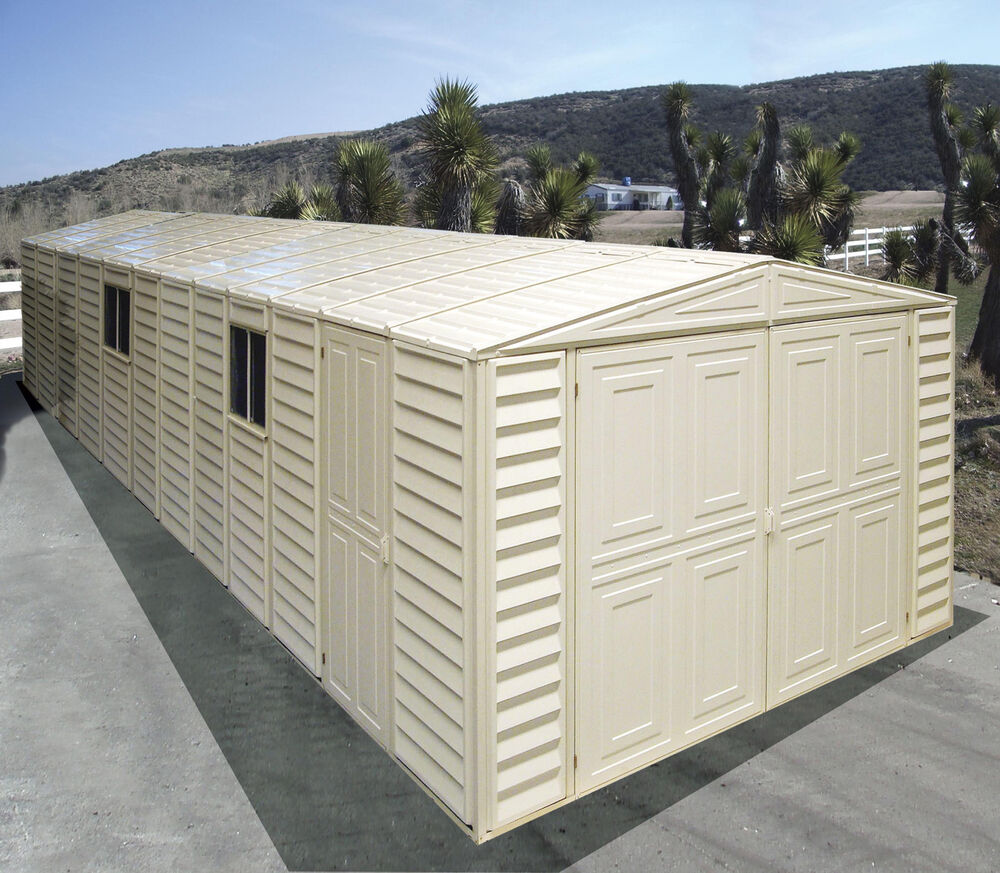 duramax sheds 10 5 39 x26 39 vinyl storage garage shed w foundation kit 01416 ebay. Black Bedroom Furniture Sets. Home Design Ideas