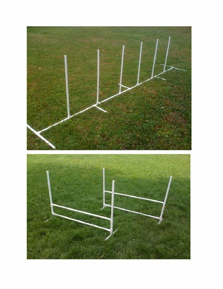 Dog Agility Equipment Beginner Set: 6 Weave Poles + 2 ...