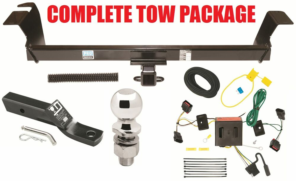 2008-2010 dodge grand caravan trailer hitch + wiring kit ... dodge truck hitch wiring