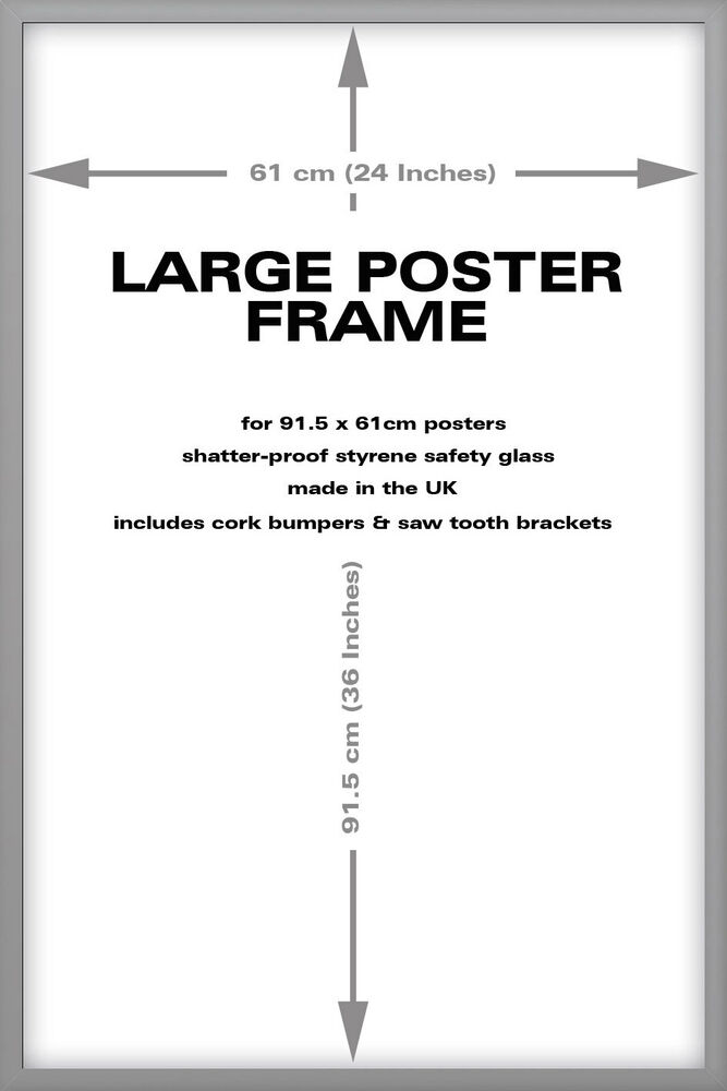 silver wood frame for 36 x 24 inch maxi poster ebay. Black Bedroom Furniture Sets. Home Design Ideas