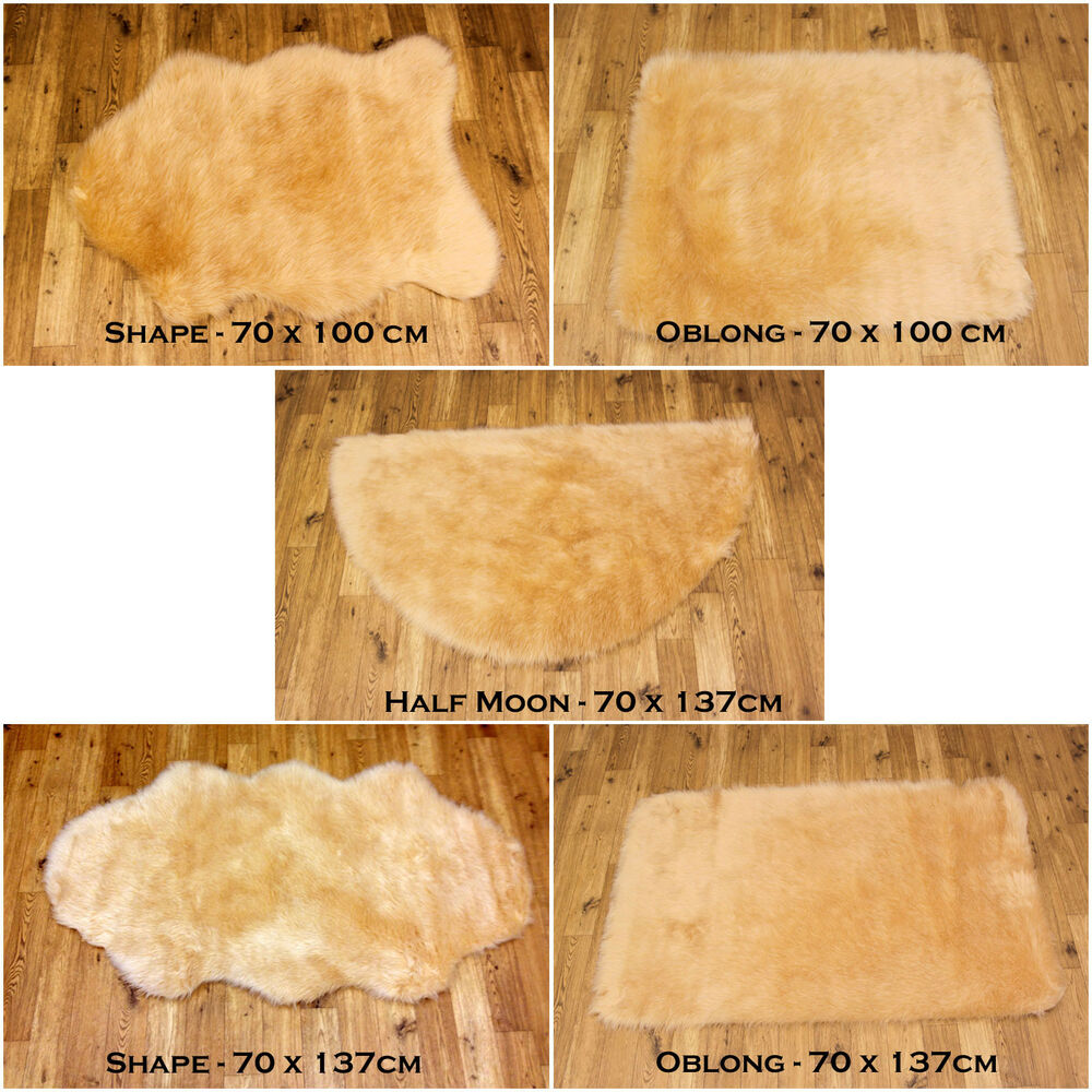 Washable Sheepskin Rugs For Dogs: SOFT FLUFFY PLAIN WASHABLE BEIGE CREAM COLOUR FAKE FAUX
