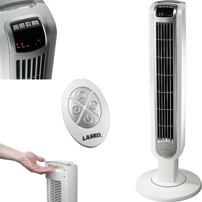 Air Cooler Fan : Portable tower floor fan w remote control lasko compact