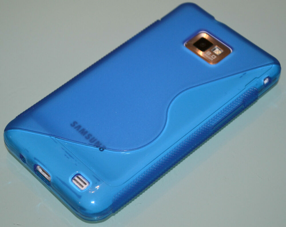 Blue S Line For Samsung Galaxy S2 i9100 TPU Gel Silicone ...